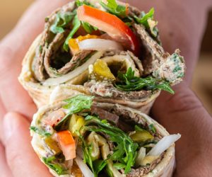 Optimized-Kofta & Hummus Mana'esh Wrap