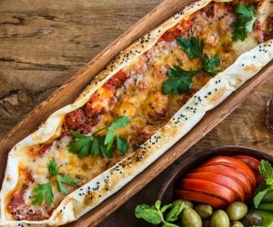 Optimized-Muhammarah and Cheese Fatayer