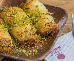 Optimized-Oven Baked Nabulsi Cheese Kunafa Roll